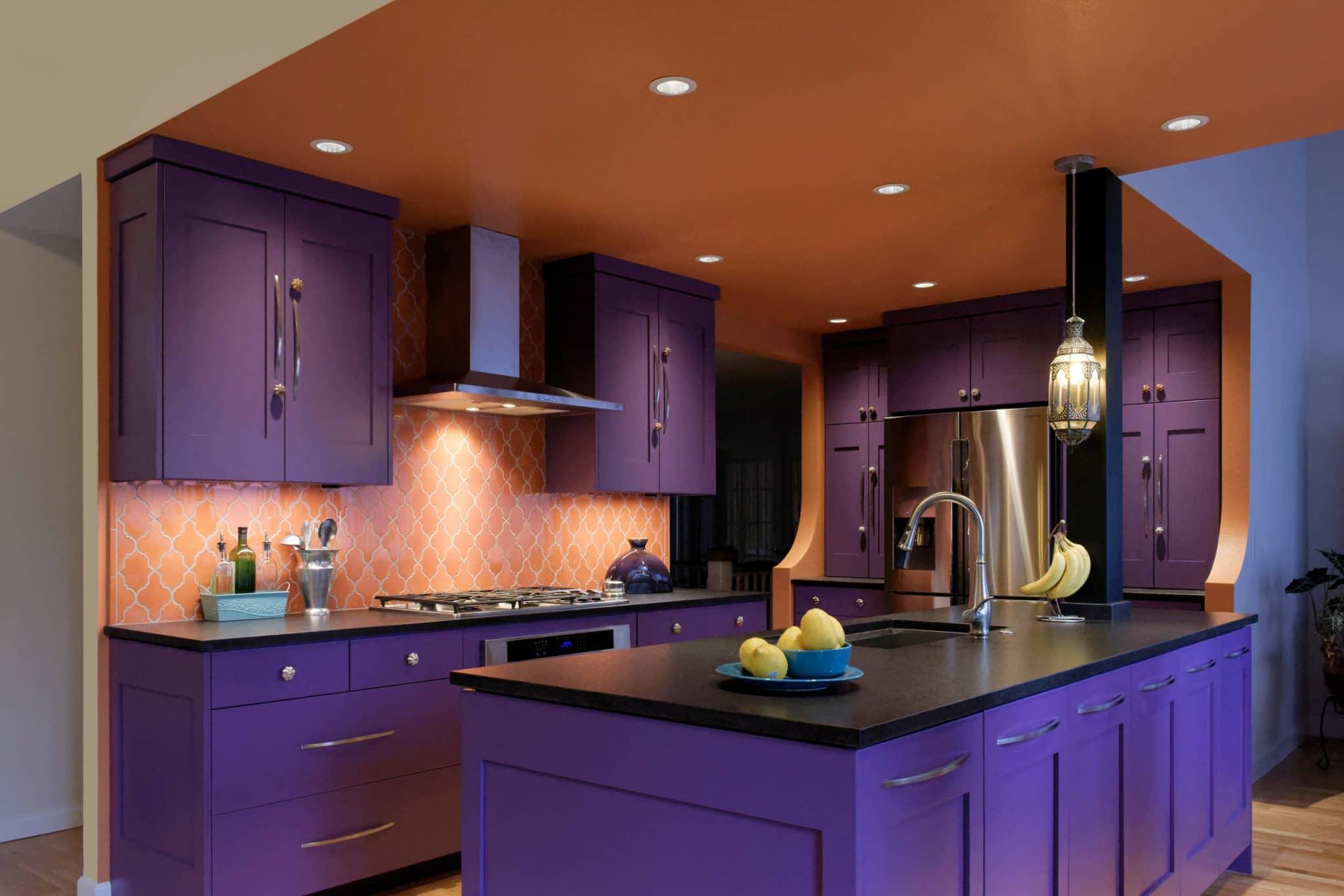 Purple Kitchen Cabinets Shaker Style