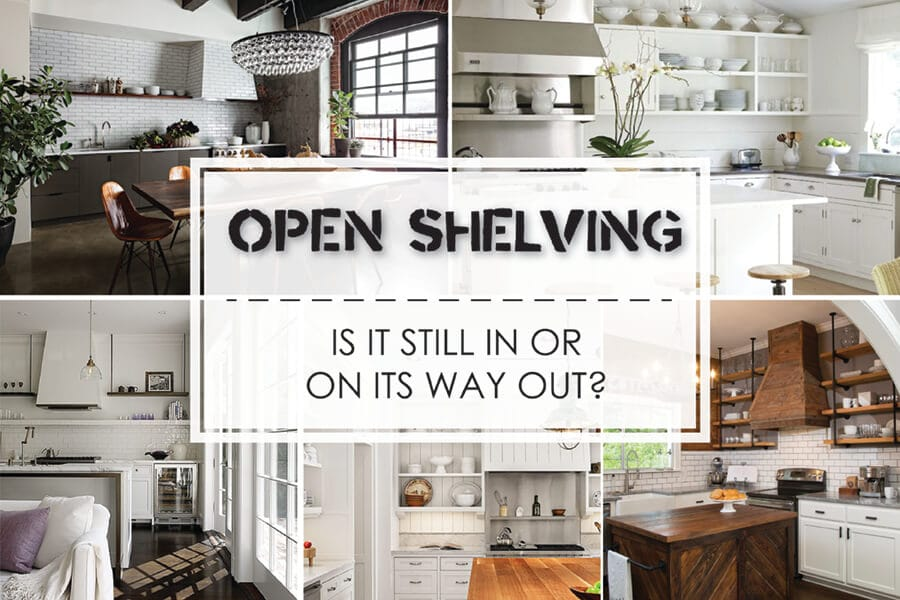 Should You Install Open Shelving Or Upper Kitchen Cabinets?