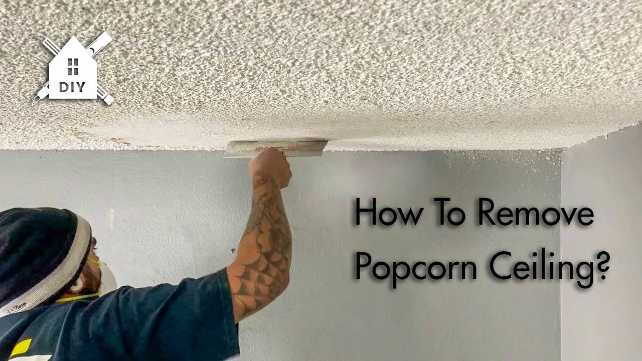 How To Remove A Popcorn Ceiling And Change Into A Smooth Ceiling Best Online Cabinets