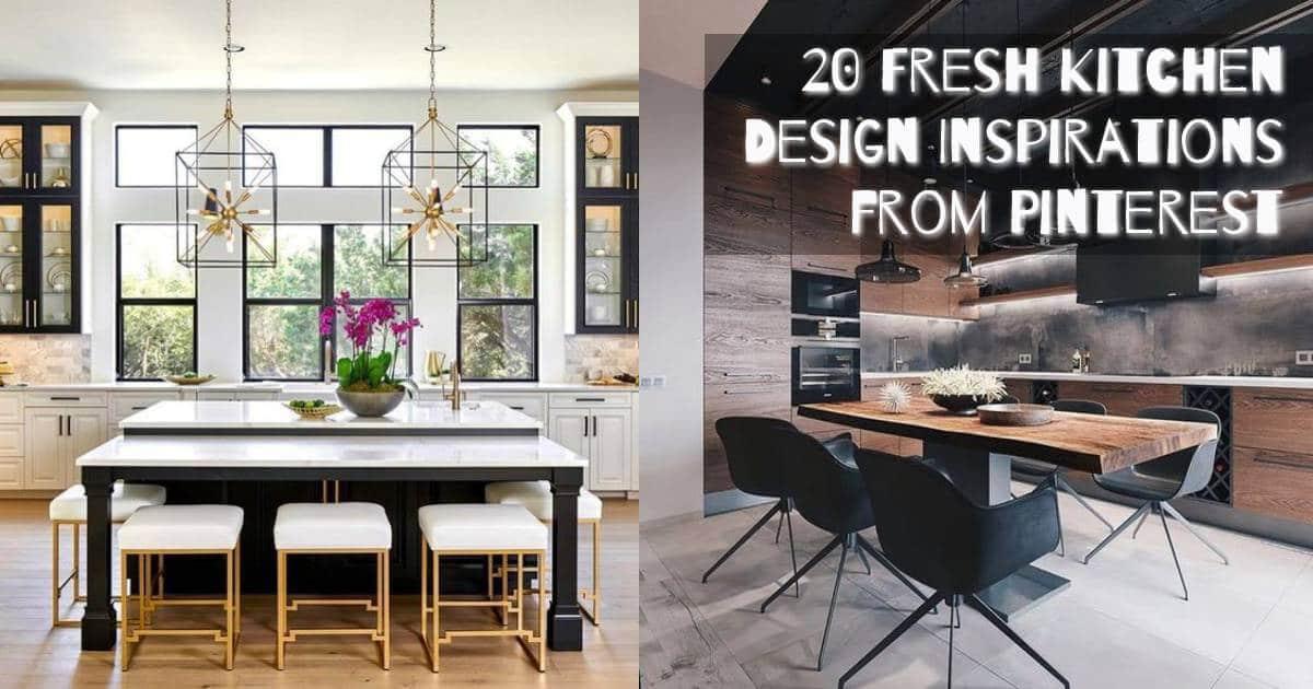 20 Fresh Kitchen Design Inspirations From Pinterest Best Online Cabinets