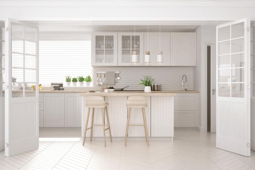 White Kitchen Cabinets - Make Kitchen Look Larger