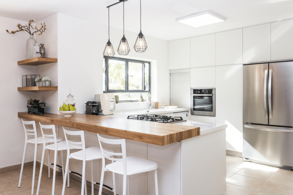 White Kitchen Cabinets Brings in More Natural Light