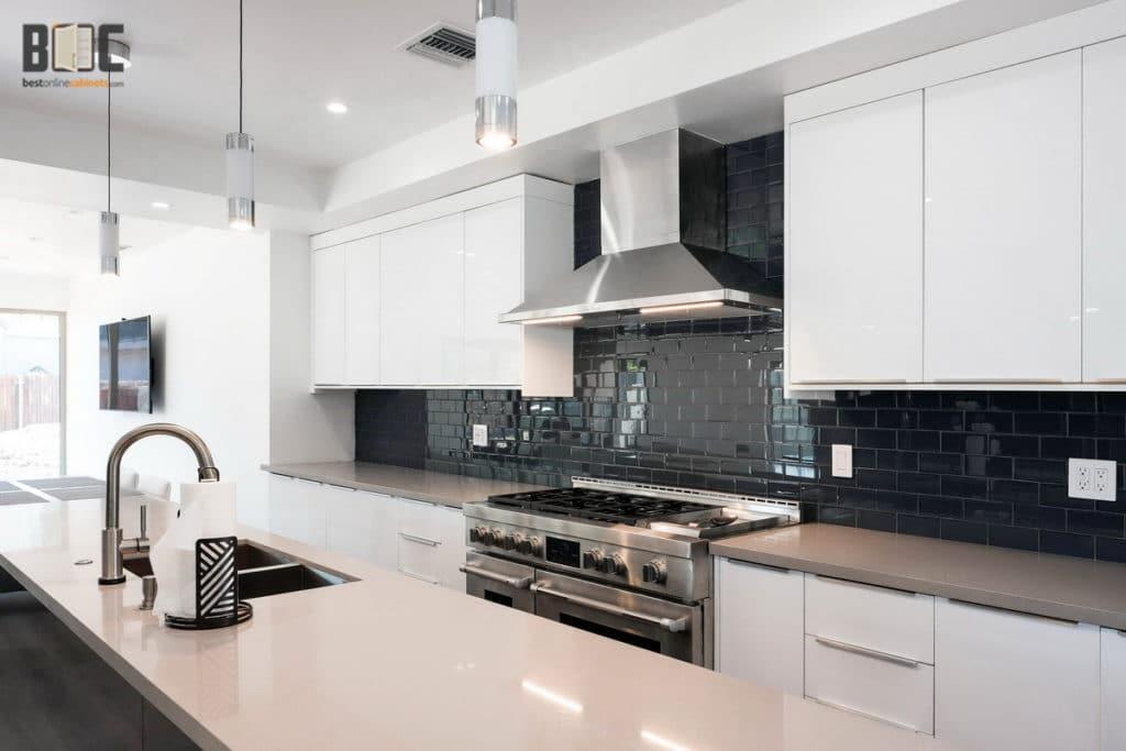 Euro Style White Kitchen Cabinets