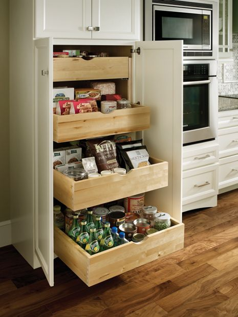 kitchen organization roll-out tray