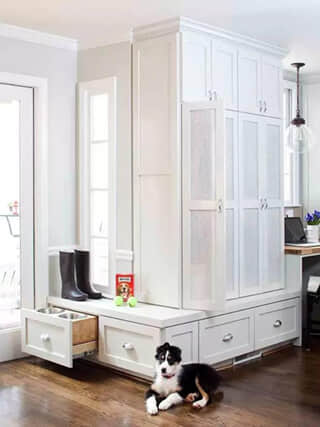 Design Ideas - Mudroom with Food Station