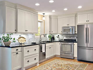 Design Ideas - Staggered Depth Kitchen Cabinet