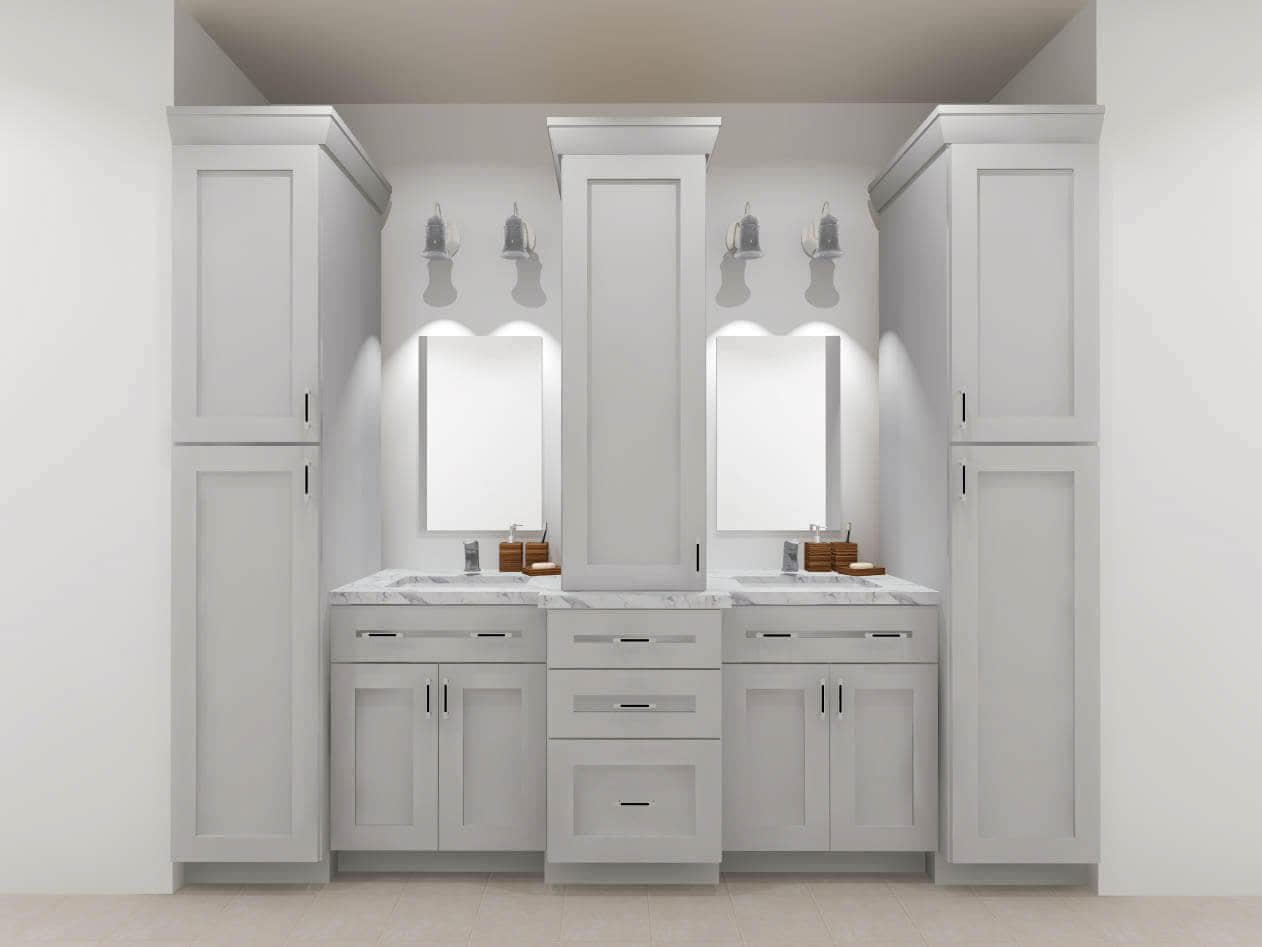 Design Idea - Vanity with Staggered Depth