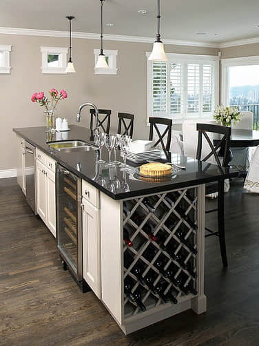 Design Idea - Kitchen Island with Wine Rack