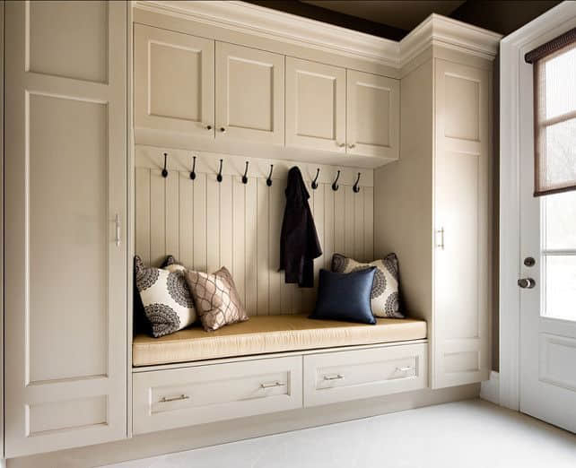Design Idea - Mudroom with Varied Depth